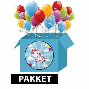 Eenhoorn kinderfeestje versieringspakket- feestje!