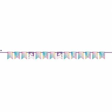 Eenhoorn themafeest wenslijn/banner 213 cm- feestje!