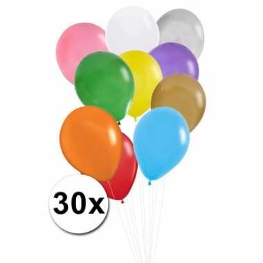 Feest ballonnen gekleurd 30x- feestje!