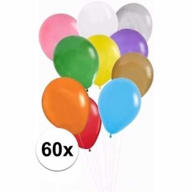 Feest ballonnen gekleurd 60x- feestje!