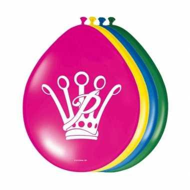 Feest ballonnen prinsessia feestje 8 stuks