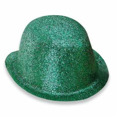 Feest bolhoed met groene glitters- feestje!
