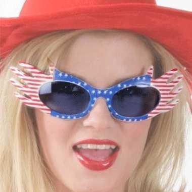 Feest bril met usa vlag feestje