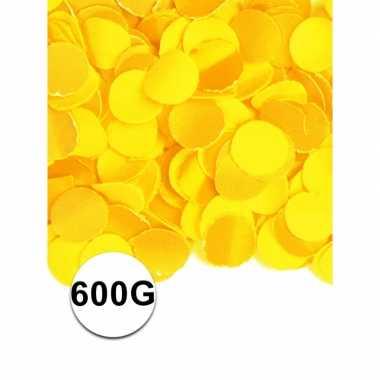 Feest confetti 600 gram geel- feestje!