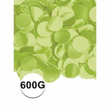 Feest confetti 600 gram lime- feestje!