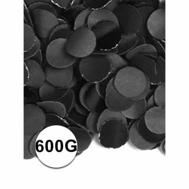 Feest confetti 600 gram zwart- feestje!
