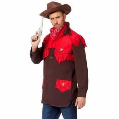 Feest cowboy kleding shirt voor heren- feestje!