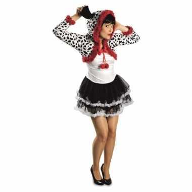 Feest dalmatier hond verkleedoutfit voor dames- feestje!
