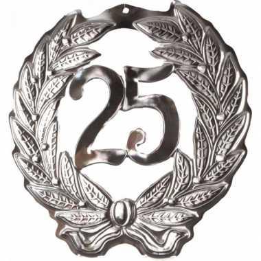 Feest decoratie krans van 25 jaar- feestje!