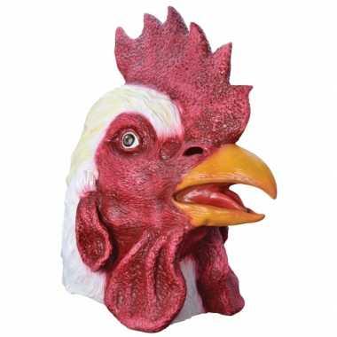 Feest dierenmasker haan feestje