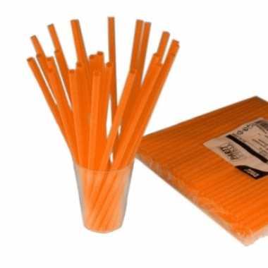 Feest drinkrietjes oranje 135 stuks- feestje!