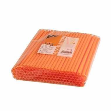 Feest drinkrietjes oranje 270 stuks- feestje!