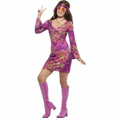 Feest hippie verkleedoutfit voor dames- feestje!