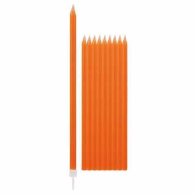 Feest kaarsen oranje 10x- feestje!