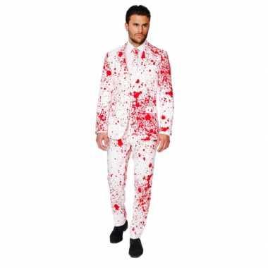 Feest kostuum bloedspatten print feestje
