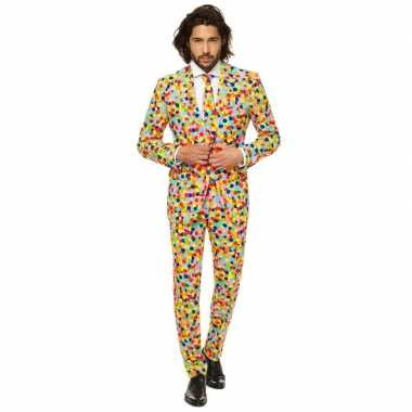 Feest kostuum confetti voor heren- feestje!