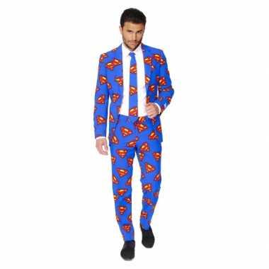 Feest kostuum superman print- feestje!