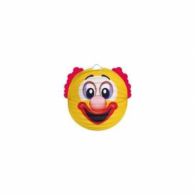 Feest lampion gele clown 20 cm- feestje!