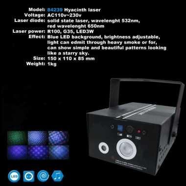 Feest laser met blauwe effecten- feestje!