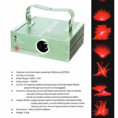 Feest laser met rode effecten feestje