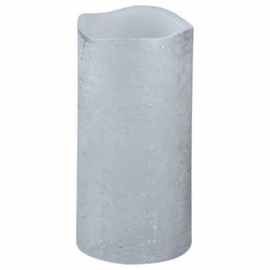 Feest led kaars zilver 15 cm feestje