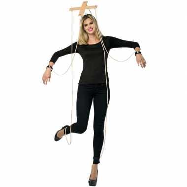 Feest marionette verkleedoutfit kruis feestje
