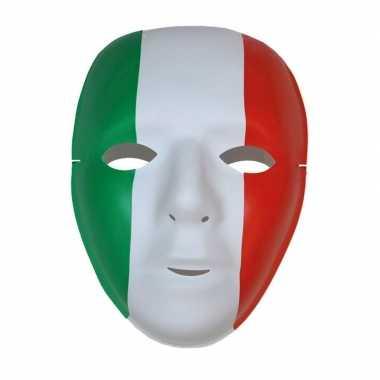 Feest masker in italiaanse kleuren feestje