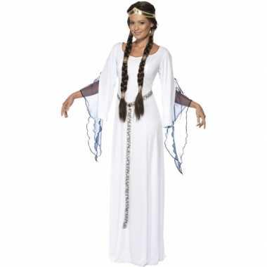Feest middeleeuwse witte verkleedoutfit voor dames- feestje!