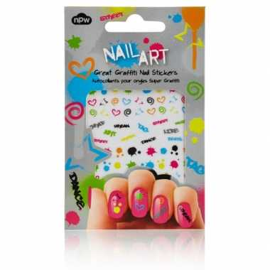 Feest nagel sticker pakket graffiti- feestje!