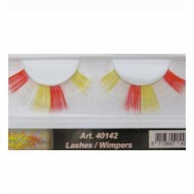 Feest nep wimpers in het rood/wit/geel- feestje!
