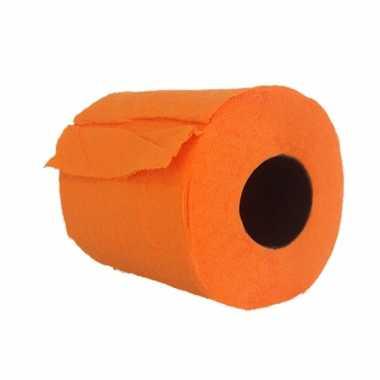 Feest oranje toiletpapier feestje