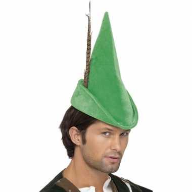 Feest peter pan hoedje groen feestje
