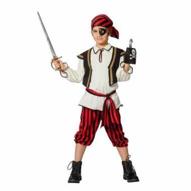 Feest piraten kleding rood/zwart voor jongens- feestje!