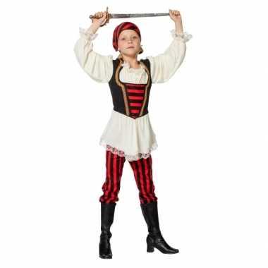 Feest piraten kleding rood/zwart voor meisjes- feestje!