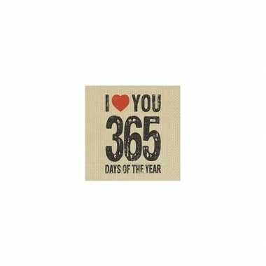 Feest servetten valentijn thema 365 days- feestje!