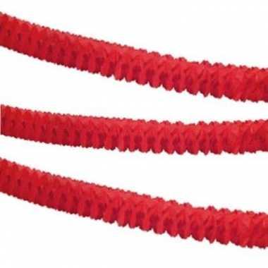 Feest slinger rood papier 3,6 m- feestje!