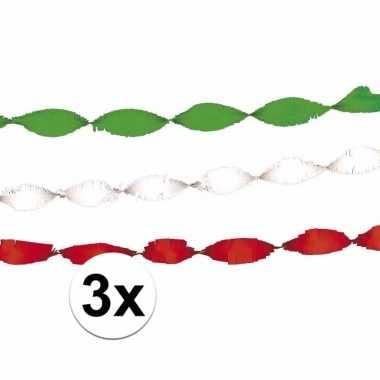 Feest slingers groen-wit-roodfeestje!