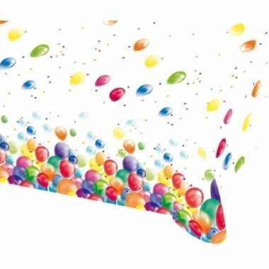 Feest tafelkleed met ballonnen opdruk plastic 135x200cm- feestje!