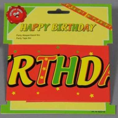 Feest tape happy birthday 6 meter feestje
