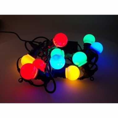 Feest verlichting 10 gekleurde bol ledlampjes- feestje!