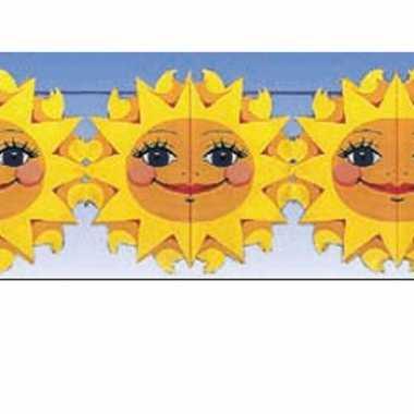 Feest versiering slingers zonnetjes van 2 meter- feestje!