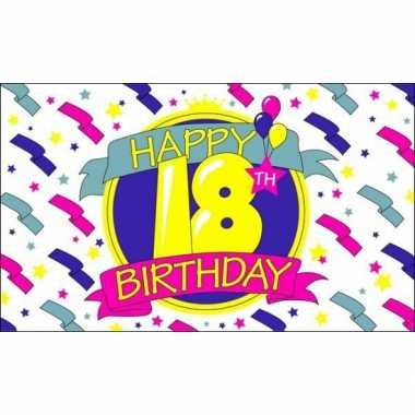 Feest vlag 18 jaar- feestje!