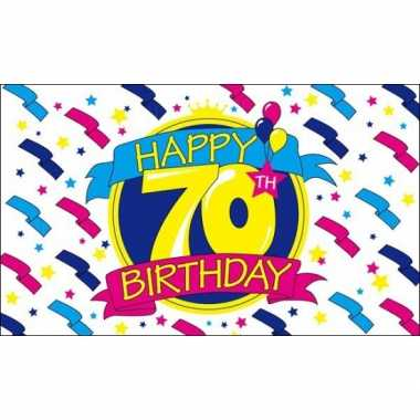 Feest vlag happy birthday 70 jaar- feestje!