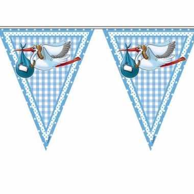 Feest vlaggetjes geboorte jongen- feestje!
