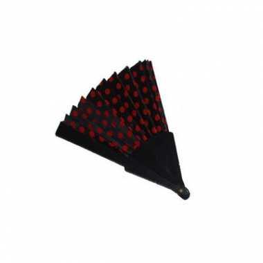 Feestartikel spaanse waaier zwart rood feestje