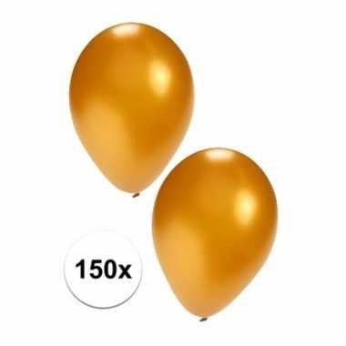 Feestartikelen 150x gouden ballonnen- feestje!