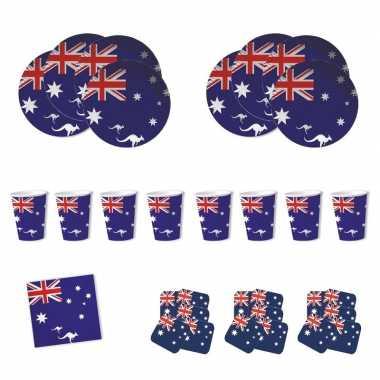 Feestartikelen australie tafel versiering pakket- feestje!
