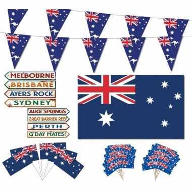 Feestartikelen australie thema versiering xl pakket- feestje!