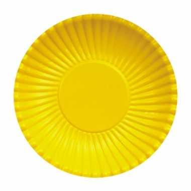 Feestartikelen borden geel 10 stuks- feestje!