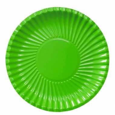 Feestartikelen borden groen 10 stuks feestje